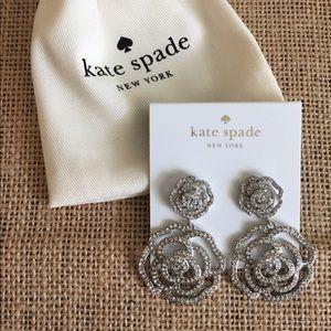 Kate Spade NY Crystal Rose Drop Earrings